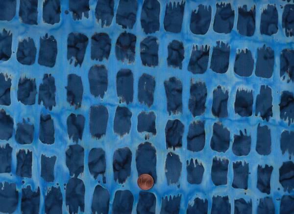 Batik Horizon Pinselstrich blau