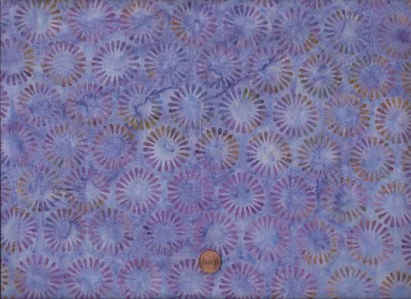 Batik Rosetten lavendel