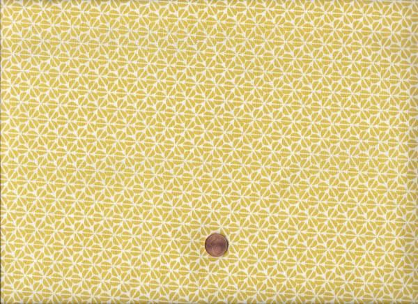 Druck weiß-gelb Kleeblätter