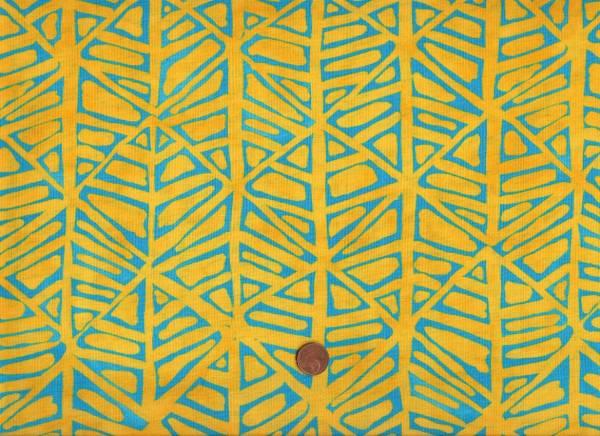 Malka Dubrawsky Simple Marks Furrows gelb-türkis