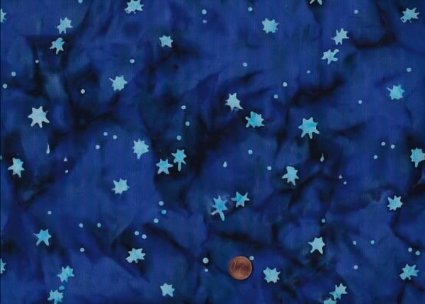 Batik Horizon Sterne blau