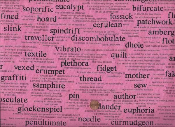 Sarah Fielke Wordplay gr. Schrift rosa-schwarz