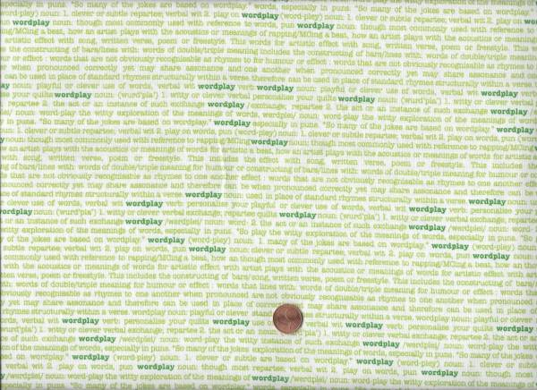 Sarah Fielke Wordplay kl. Schrift weiß-grün