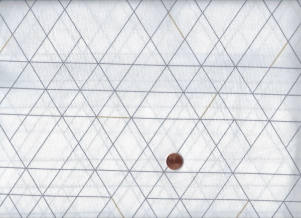 LineToFace Dreiecke metallicgold weiß