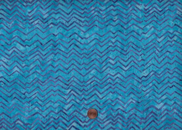 Batik Chevron Türkis Lila Blautürkis Batiks Stoffe Quilt