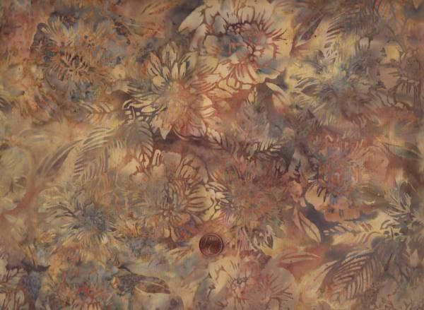 Batik floral braun-beige 75cm