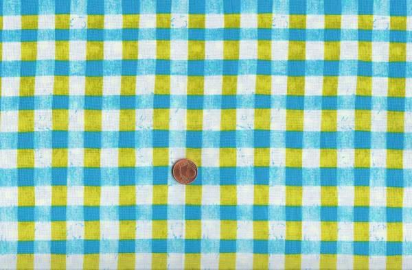 Malka Dubrawsky a stitch in color türkis-grün-weiß Karo
