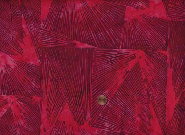 Batik Striche rot