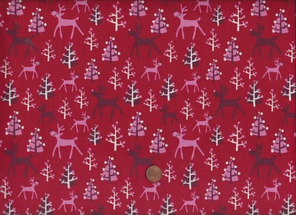 x-mas Rudolf rot-pink ökotex