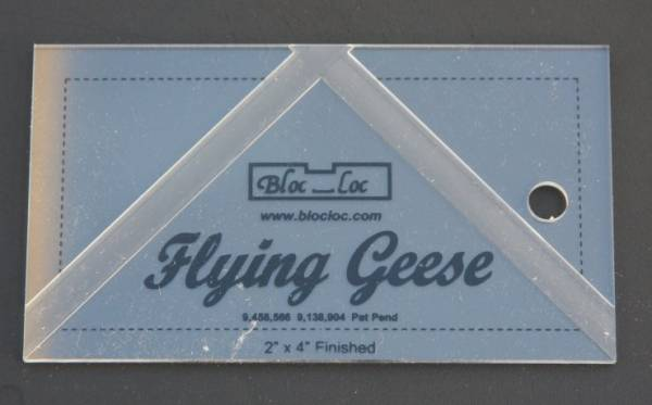 "Bloc-Loc Ruler Flying Geese 2""x4"""
