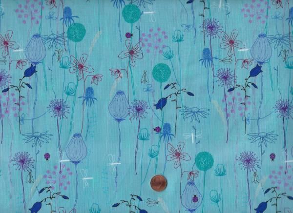 Roadside Flowers blau Blumen