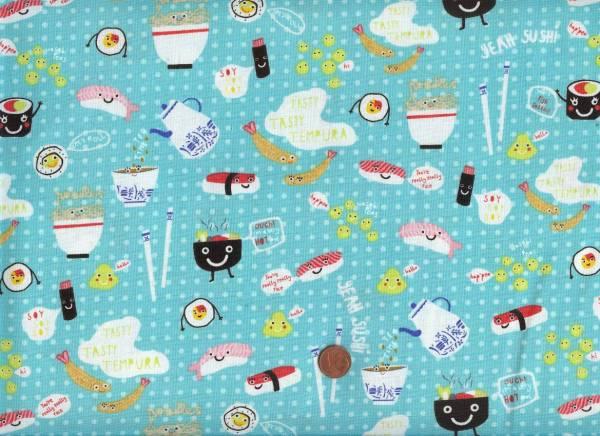 Sushi aqua-bunt
