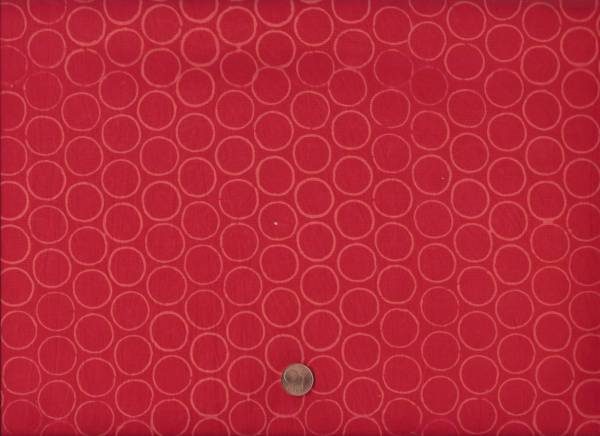 Modern Batiks Circles red