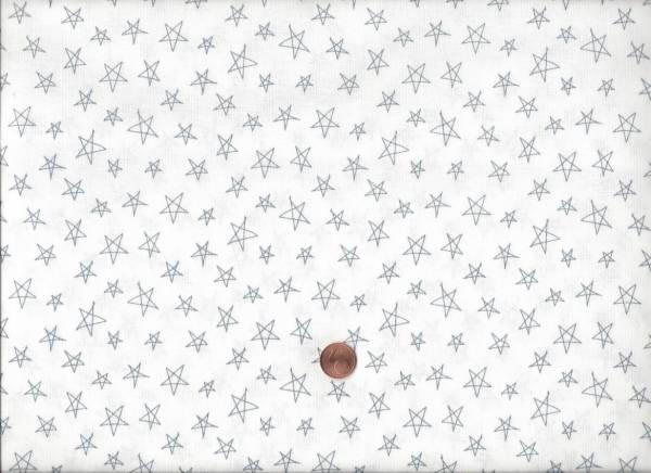 Notepad Sterne weiß-grau