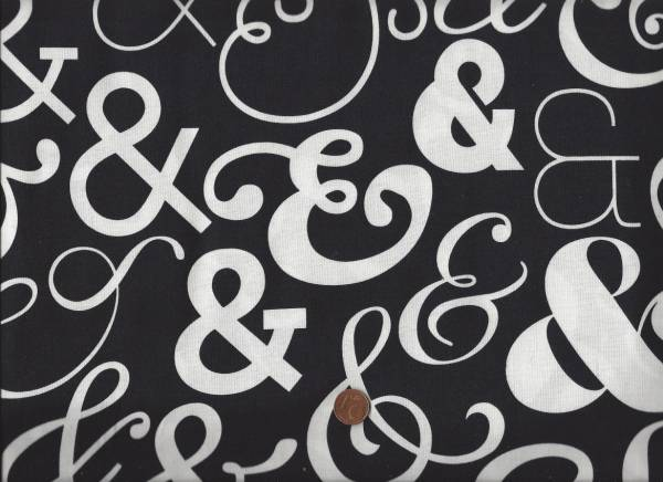 Ampersand & schwarz-weiß