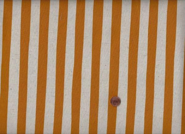 Canvas Stripes gold 80%co/20% li