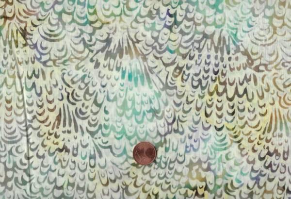 Batik Federn beige -braun