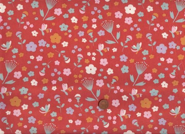 Yay Day Bio-Baumwolle Blumen rot-bunt