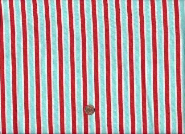 Daysail Streifen rot-weiß-türkis