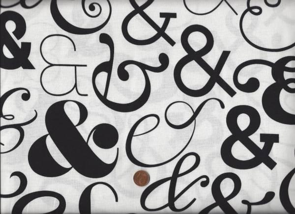 Ampersand & weiß-schwarz