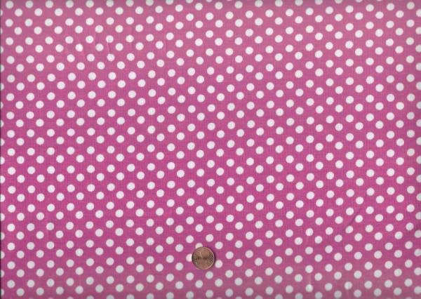 Jersey Punkte rosa-weiß
