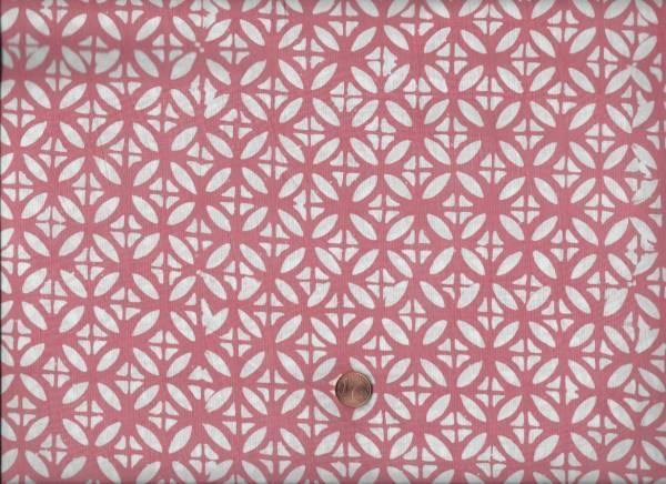 Batik Kreise lachs-weiß