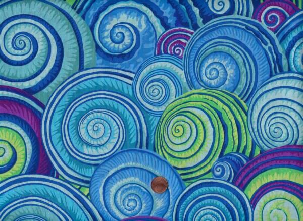 Philip Jacobs Spiral Shells pj73 blue