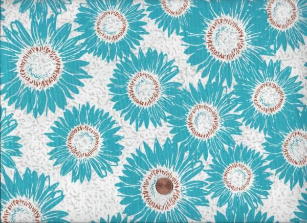 Makers Home Blüten weiß-türkis