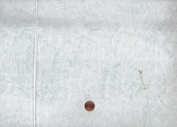 Batik Striche weiß-grau