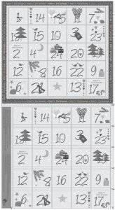 Christmas for Friends grau Kalender 60cm