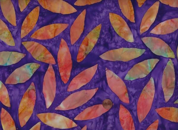 Kaffe Fassett Artisan Batik Tumbling Leafs kf07 purple