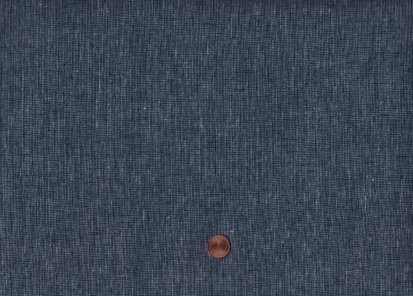 Essex Yarn dyed 55%li/45% co navy
