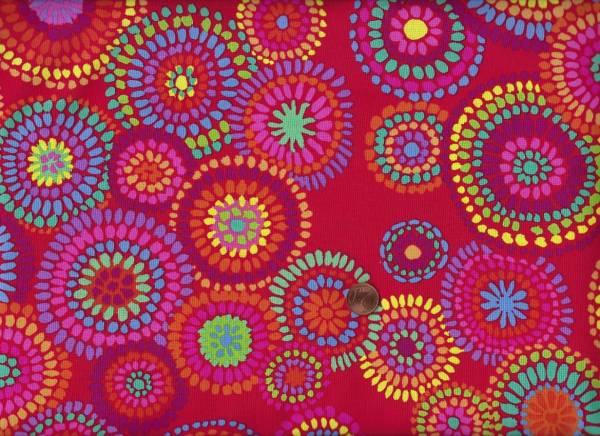 Kaffe Fassett Mosaic Circles gp176 red