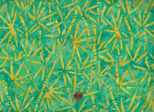 Batik Bambus grün-gelb