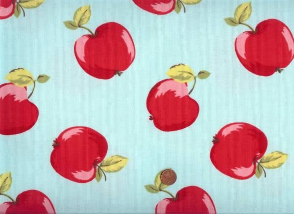 Deko Apples laminierte Baumwolle