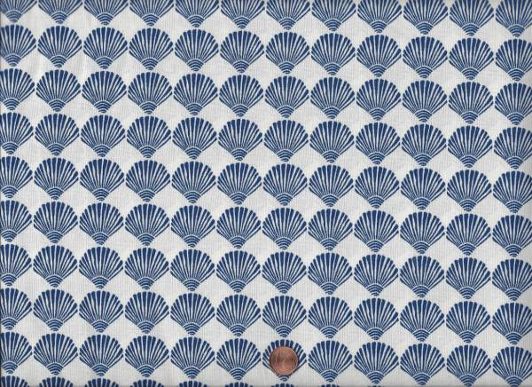 Tide Pool Muscheln weiß-blau