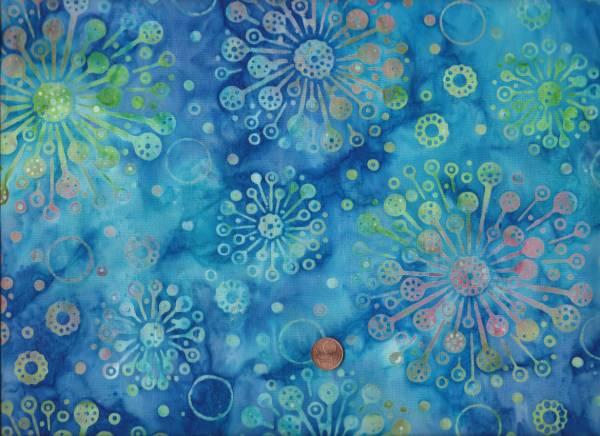 Batik Aralie blau-bunt
