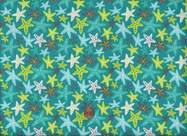 Sea Life Seesterne türkis-grün-grau