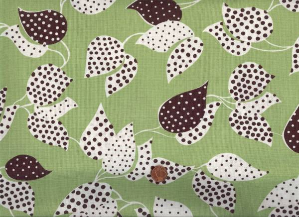 Denyse Schmidt Flea Market Fancy Leaf&Dot green