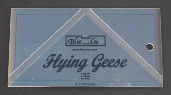 "Bloc-Loc Ruler Flying Geese 3""x6"""