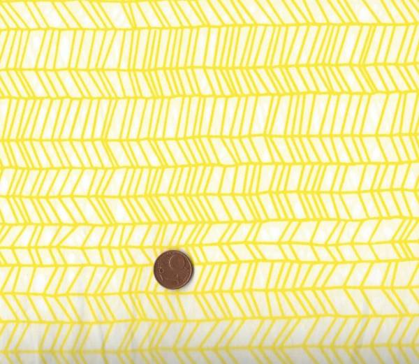 Batikdruck Zig-Zag gelb