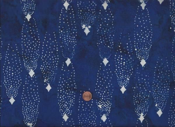 Batik Punkte royalblau-weiß