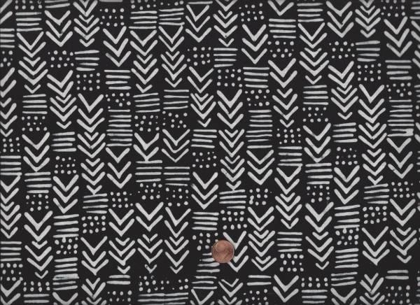 me & you Batik Pfeile schwarz-weiß