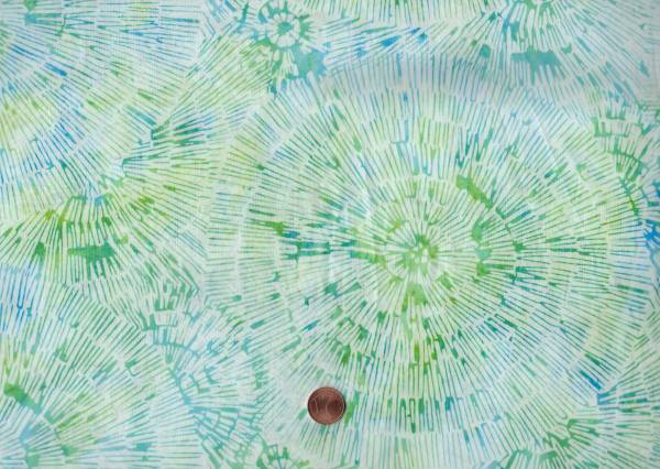 Batik Striche weiß-grün-blau
