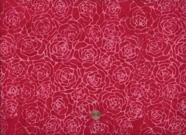 Batik Blüten rot