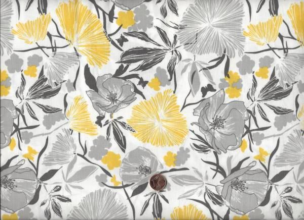 Bryant Park Blumen gelb-grau