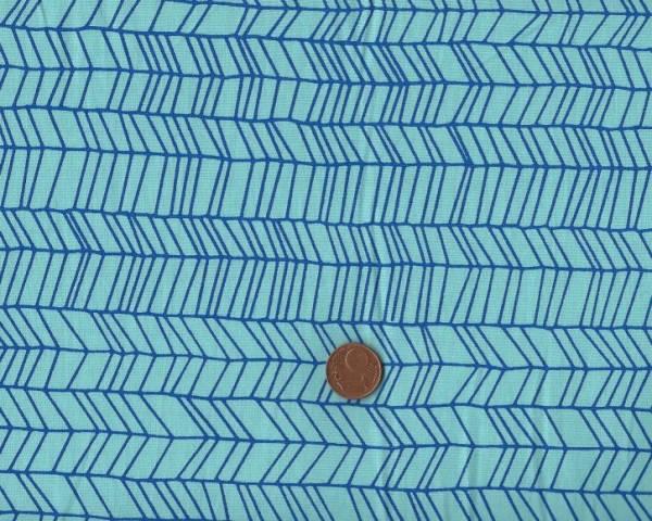 Batikdruck Zig-Zag türkis