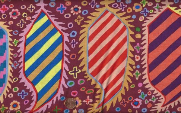 Kaffe Fassett Striped Herald gp153 maroon