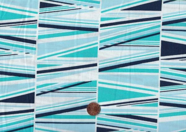 Shattered Streifen weiß-türkis-blau