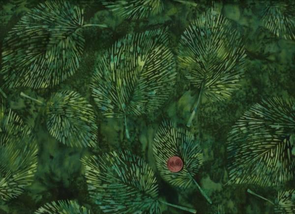 Batik gr. Blätter grün